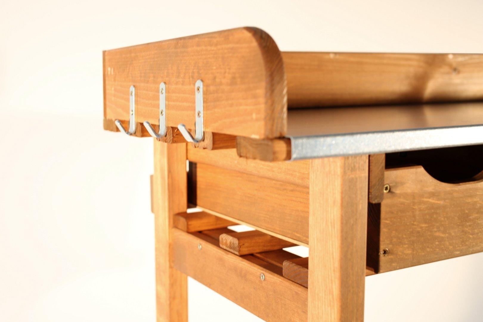 pflanztisch 3 schubladen und seitenablage. Black Bedroom Furniture Sets. Home Design Ideas